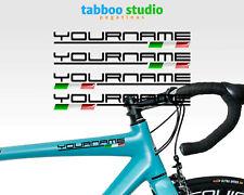 Adesivi Nome e bandiera personalizzato 4 Pezzi flag stickers bici mtb moto casco