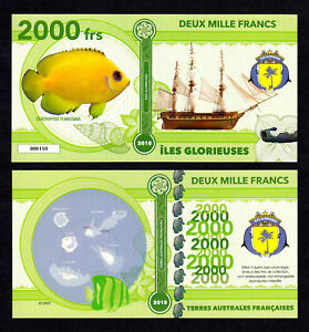 ★★★ ILES GLORIEUSES ● TAAF ● BILLET POLYMER 2000 FRANCS ★★★ COLONIE FRANCAISE