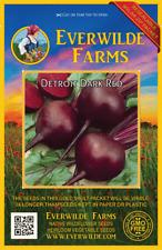 1000 Detroit Dark Red Beet Seeds - Everwilde Farms Mylar Seed Packet
