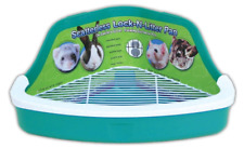 Pet Litter Plastic Pan Rabbit Hamster Scatterless Pens Small Pets Litter Box New