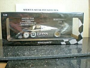 "MINICHAMPS 155836612  ""BOSS"" PORSCHE 956K 1983 200 MILE OF NURNBERG #12 1:18"