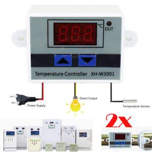 2X 220v Interruttore di comando termostato digitale temperatura LED Controller