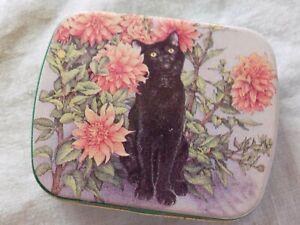 BLACK CAT TIN KELLAR CHARLES OF PHILA JAMIE REHFELD  TIN MADE IN ENGLAND
