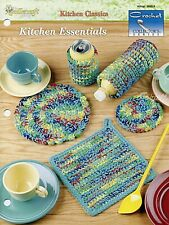 Kitchen Essentials ~ 5 Easy Classics, Crochet Collector's pattern leaflet New