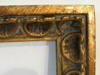 ART NOUVEAU, ART DECO HAND CARVED GILDED WOOD FRAME FOR PAINTING 14 X 6 INCH