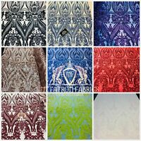 Metatron Fabrics Sequin Fabric 4 Way Stretch On Spandex Mesh 22 Colors By Yard