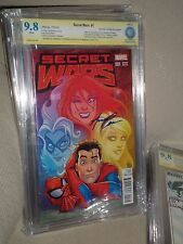Secret Wars #1 2015 CBCS SS 9.8 Signed Amanda Conner Variant CGC