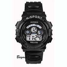 Reloj pulsera deportivo digital LED Luz Fecha Alarma De Varios Chicos Niños Niñas Regalo