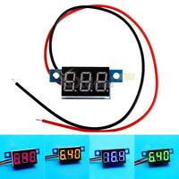 """0.36"""" LED Digital Car Voltmeter Gauge Voltage Volt Panel Meter 2 Wire DC 3-30V"""