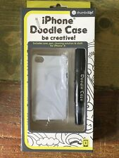 iPhone 4 / 4s / 5 Doodle Case White, Pen, Cleaning Solution, Cloth By thumbs Up