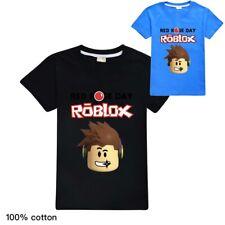 ROBLOX boys kids summer t-shirt short sleeve t-shirt top size 7-12 AU 100%cotton