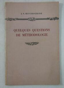 RARE L. V. MITCHOURINE Quelques questions de méthodologie 1952 BIOLOGIE illustré