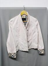 Womens Burberry London Jeans Nova Check Sleeve Pink Bomber Denim Jacket