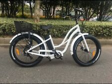 "Our Fab Beach Fat Tyre Electric Step Down bike For Women 26"" 500w/48v Motor"
