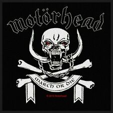 MotorHead March or Die Sew on Patch Woven Music Official Band Rock Heavy Metal