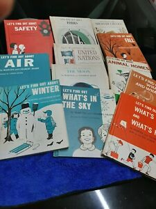 lets find out about Vintage Children Books Educational  1960s hc 12 books