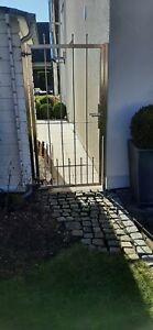 Gartentor Gartentür Tor Tür Pforte Zaun Zauntür Edelstahl 183 x 92 x 4 cm
