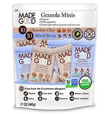 Made Good Minis Mixed Flavors Pack of 20 - 10 Chocolate Chip & 10 Mixed Berry