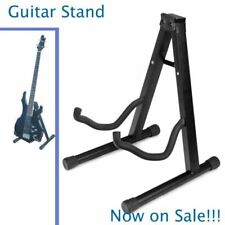 Folding Electric Acoustic Bass Guitar Stand Floor Rack Holder Black