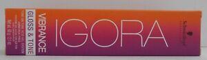 Schwarzkopo IGORA VIBRANCE GLOSS & TONE Professional ACID GEL Hair Color ~2.1 oz