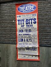 More details for variety theatre poster 1935,burnley victoria,jack fields,leon+ alys,gladys cutte