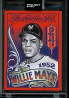 Topps Project 2020 #256 Willie Mays 1952 Card by Mister Cartoon with Box SP