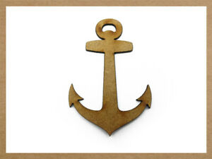 WOODEN MDF ANCHOR SHAPES SHIP BOAT YACHT NAUTICAL SEA CRAFTING CRAFT SHAPE
