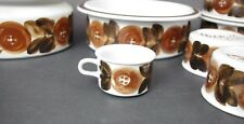 1 Arabia Finland Signed Ulla Procope Brown Anemone Demitasse Cup Only