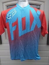 Fox Racing Flow Short Sleeve Cycling Jersey Cyan Blue Small S