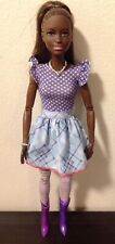 Barbie Doll Clothes: Vintage Mattel Dress, Jewelry, Thigh High Stockings & Boots