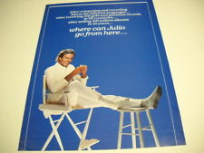 JULIO IGLESIAS Where Can He Go From Here 2-sided 1984 PROMO POSTER AD ...Bel Air