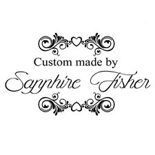 """custom name heart flora hand made by personalized pre ink self inking stamp 2"""""""
