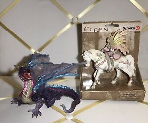 Schleich Elfen Feya 70400 Fairy & Horse Retired 2006 (Fairy/Elf) (Bayala) New