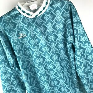 Vtg Score by American Soccer Long Sleeve with Pads Football Jersey Adult S USA