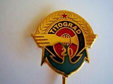 Vintage Montenegro Lapel Pin Titograd Emblem with Anchor