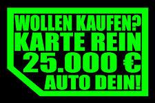 2 STÜCK AUFKLEBER NIX VERKAUF NIX KARTE MEINS!Autoscheibe 2x Autohändler NICHTS