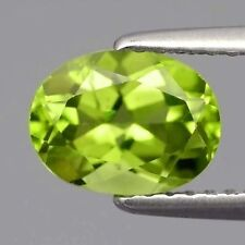UNUSUAL 7x5mm OVAL-FACET STRONG-GREEN NATURAL AFGHAN PERIDOT GEMSTONE
