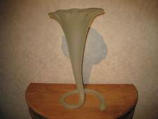 LAURA ITALY *NEW* Vase opaline 50cm vert green
