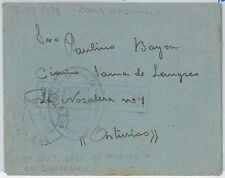 España - HISTORIA POSTAL: SOBRE en FRANQUICIA: BATALLON ESPECIAL de montaña 1939