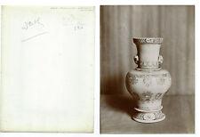 Photo  citrate / Belle porcelaine. Vase de St Cloud Vers 1900