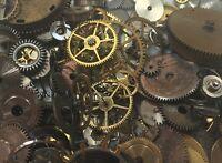 10grams Steampunk WATCH Parts Old Pieces Steam Punk Cogs Gears Wheels Vintage