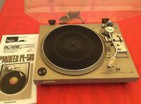 Pioneer PL-518 Direct Drive Auto Return Turntable, Audio Technica AT96E, ATN96E