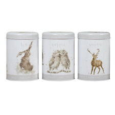 Wrendale Designs Grey Tea, Coffee & Sugar Canisters - Country Kitchen