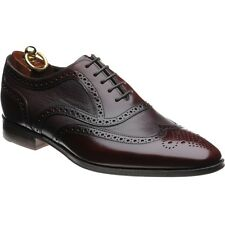 New & Boxed Loake 'Baskerville' Oxford Burgundy Leather Shoes 8 UK 42 - Wide Fit