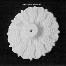 55mm Ceiling Rose, Doll House Miniature, Fixture & Fittings