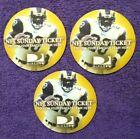 3x 🔥MARSHALL FAULK🔥 2003 Direct TV NFL Sunday Ticket *Cardboard Beer Coasters*
