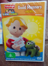 Good Manners (DVD) Fisher Price Little People 10 fun video stories ,FREE POST