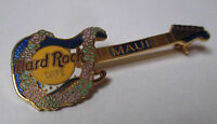 Broche Hard Rock café Maui - guitare collier de fleurs