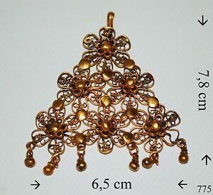 Sehr alte Kettenanhänger Messing Vergoldet 24 Karat Vintage