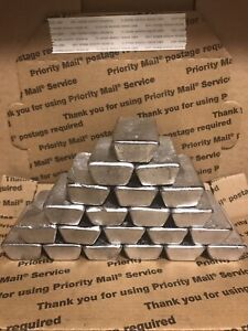 This Listing Is for 10 -1Lb clean (fluxed) lead ingots